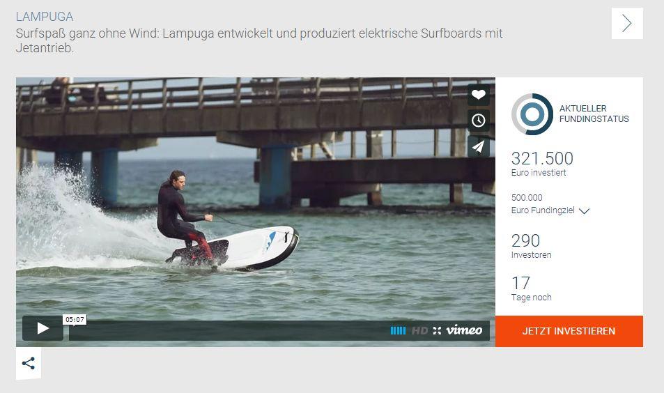 Surfboard mit Jetantrieb