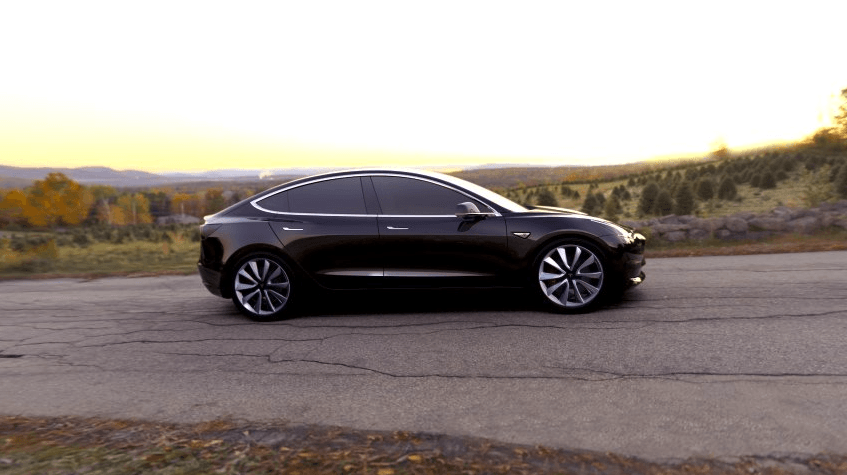 So sieht der Tesla Model 3 aus