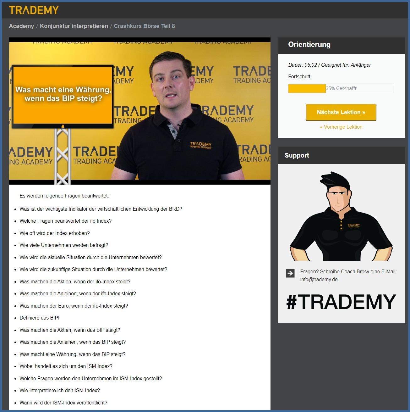 Die Trading Ausbildung wurde sehr aufwendig produziert. Es hat knapp ein Jahr gedauert, bis alle Inhalte unseren Ansprüchen genügten.